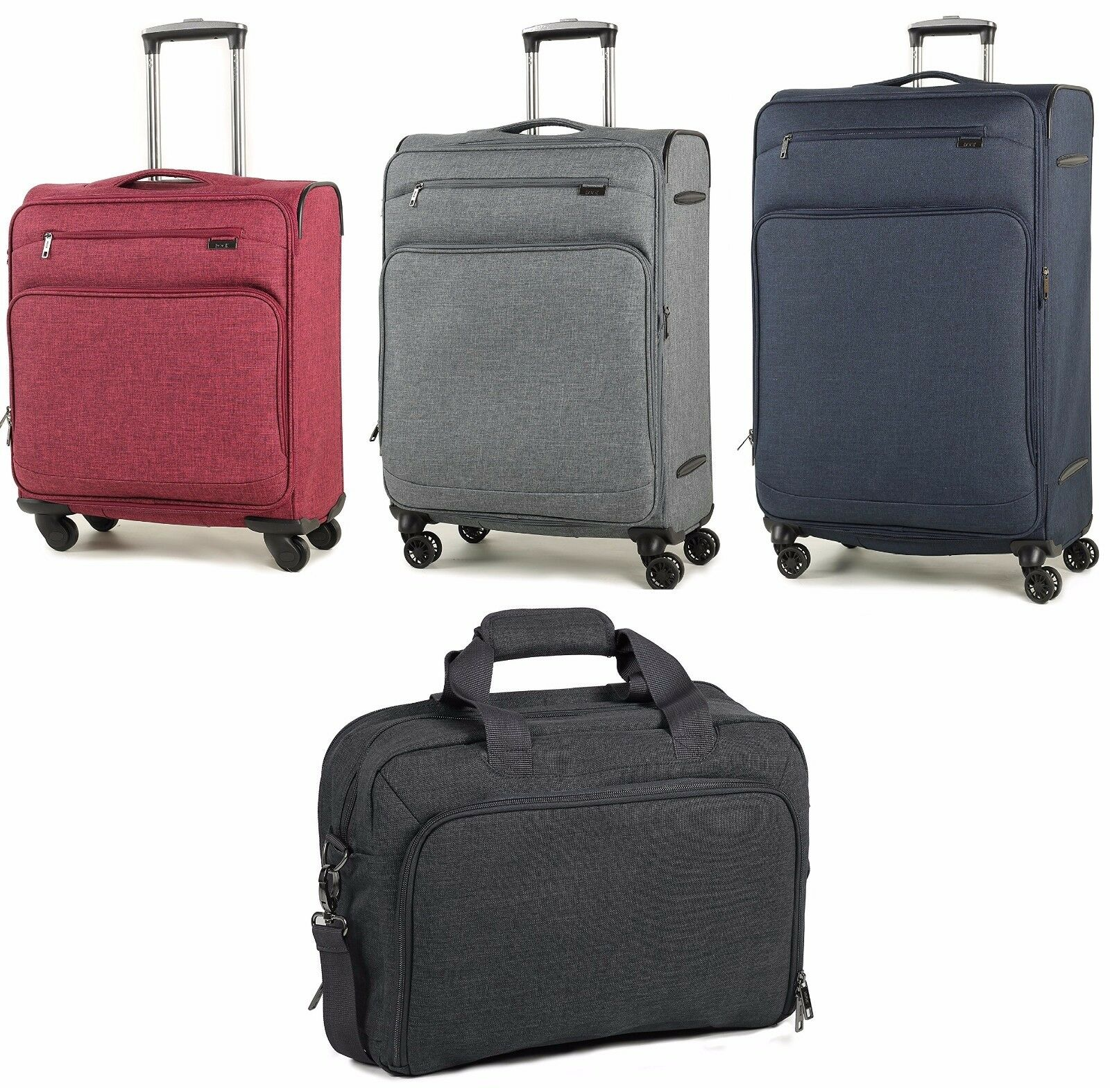 Rock Madison Lightweight Expandable Four Wheel Spinner Suitc