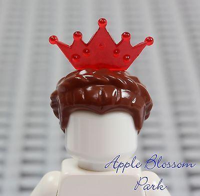 inzessin Braun Queen Haar Schloss Mädchen Zopf W/ Rot Tiara (Rot-tiara)