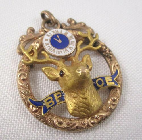 Vintage Fraternal Order of Elks Pendant