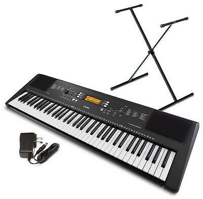 Yamaha PSREW300 76 Key Portable Keyboard Black with Stand & Adapter