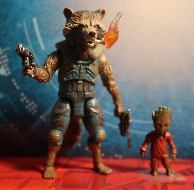 Marvel Legends Rocket Raccoon & Baby Groot Cigarette Guardians Of The Galaxy 2