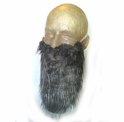 Adult Gray Beard & Mustache Pirate Dwarf Moses Wise Man Costume Accessory  - Pirate Beard