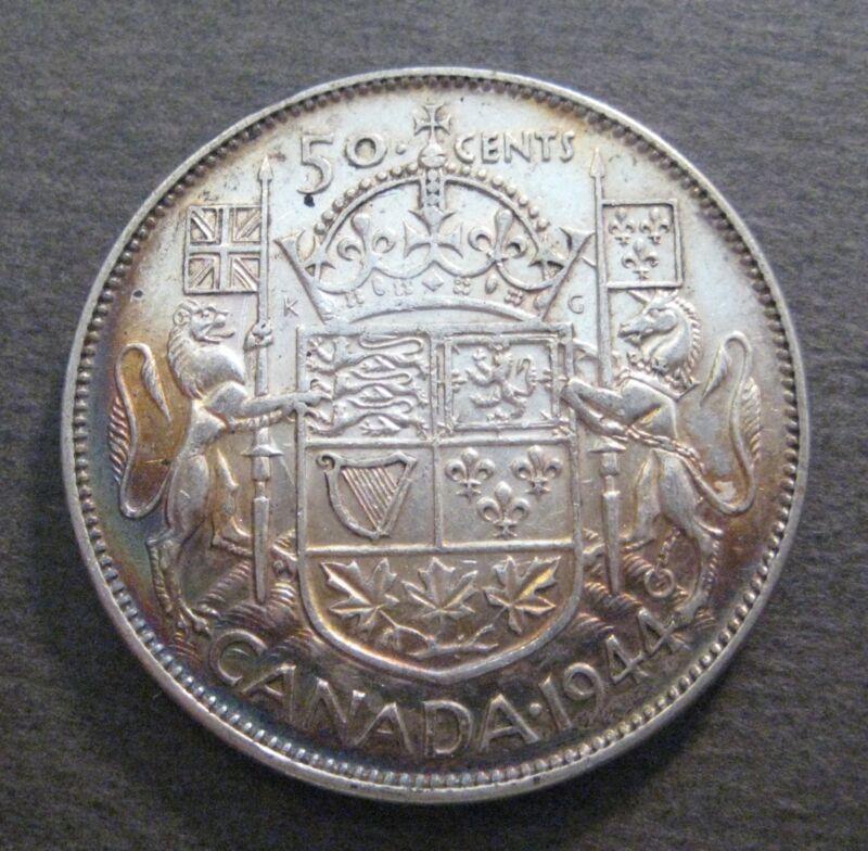 1944  Canada 50 Cents - Silver - George VI - * No Reserve *- (P703)