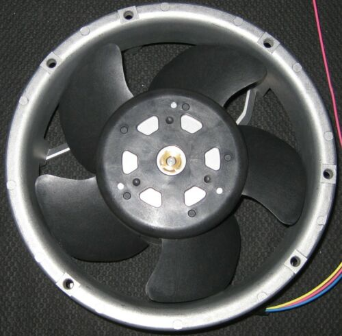 Industrial Cooling DC Fan - 172 mm Round - 24 V - High Flow and Speed - 250 CFM