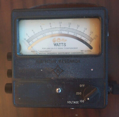 Wattmeter Sensitive Research Instrument 51020 Watts Full Scale