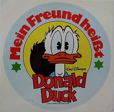 Aufkleber Mein Freund heißt DONALD DUCK Walt Disney 80er Sticker Micky Maus