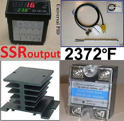 Professional Ramp Soak Temperature Controller Kiln Ssr Kit Ceramic Thermocouple
