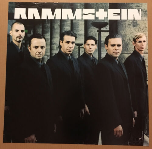 RAMMSTEIN Rare 1998 DOUBLE SIDED PROMO POSTER 4 Sehnsucht CD 24x24 NEVER DISPLAY