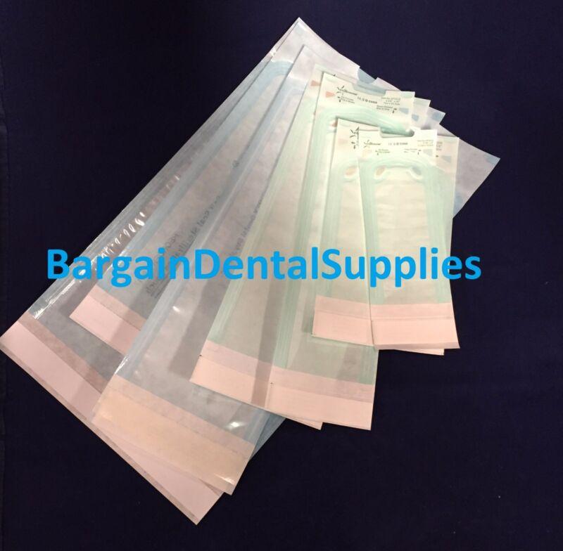 """4000 Pcs Self-sealing Sterilization Pouch Quatro Indicators 2.75""""x10"""" Fda"""