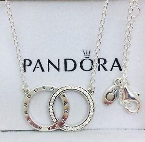 c99978d3c Pandora Genuine Sterling Silver Circles Necklace #396235CZ - 45CM