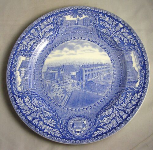 1929 Wedgwood University of Pennsylvania FRANKLIN FIELD Blue Plate