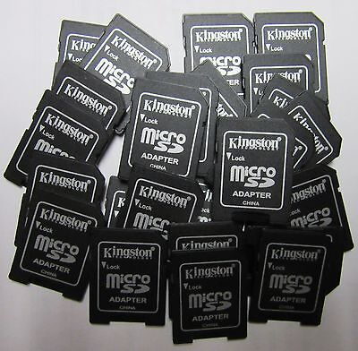 Lot of 25 Kingston Micro SD to SD adapters for MicroSD Memory Card - US Seller
