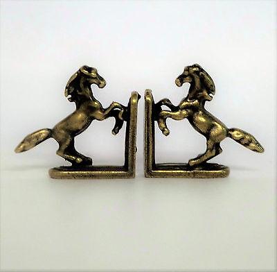 2 Buchstützen Pferdchen Bronzeart 1:12 Puppenstube Puppenhaus