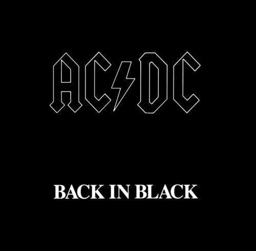 AC/DC Back in Black BANNER HUGE 4X4 Ft Fabric Poster Tapestry Flag album cover