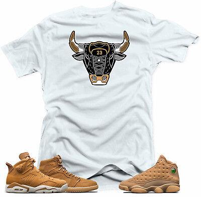 Shirt To Match Jordan Golden Harvest Og Wheat Gold 6 1 13 The Bull White Tee