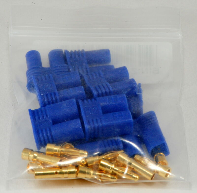 5 Pack: (5) Pair Male / Female (Device / Battery) EC2 Style Connector Sets