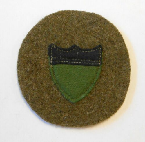 WW1 US Air Service Recruiting Patch Green Felt Background w/ Shield