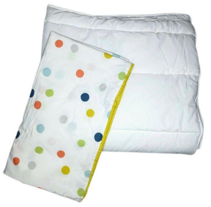 IKEA Dromland Baby Crib Duvet Polka Dot Cover + Quilted White Insert 2pc Set