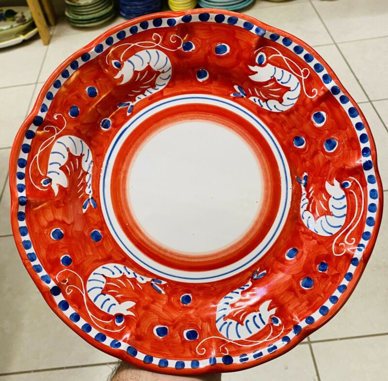 Vietri Pottery-Campagna Style Pattern 10 Inch Plate Made/Painted by hand-Italy