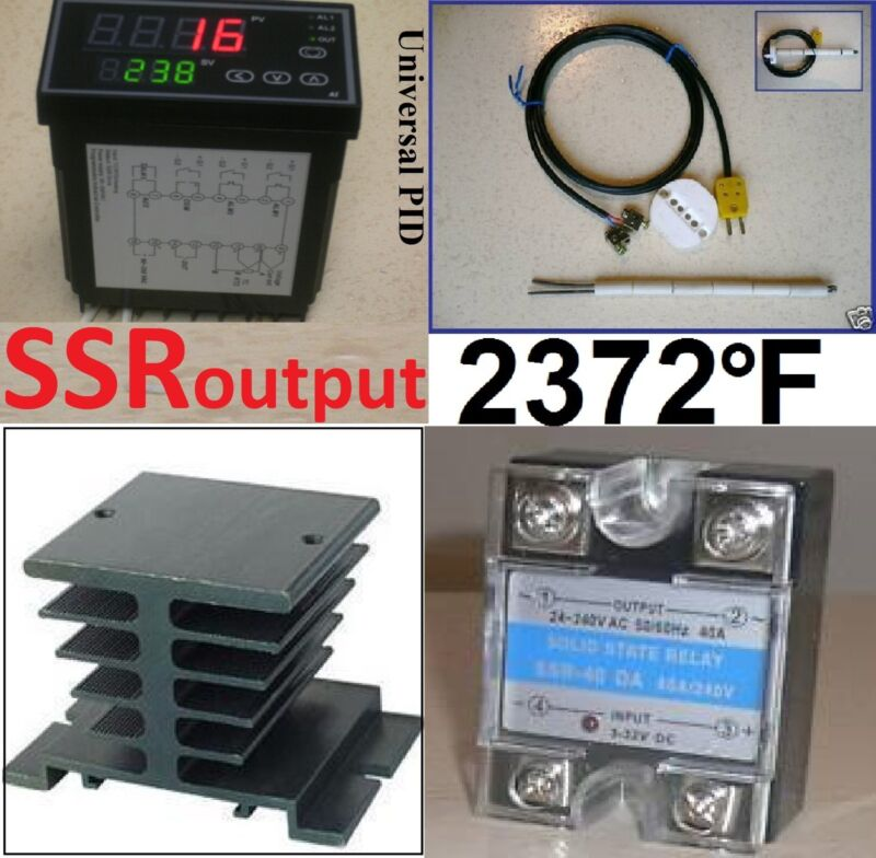 Ramp Soak Temperature Controller Kiln SSR Thermocouple Programmable Control 60S