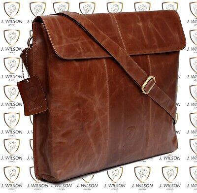 - Designer Leather Mens Ladies Crossover Shoulder Work Messenger Bag Laptop Case