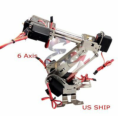 R2 Fully Assembled 6 Axis Mechanical Robotic Arm Clamp For Arduino Raspberry