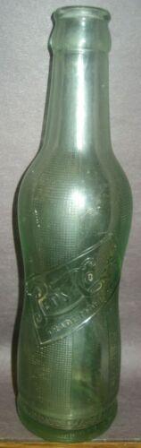 1920s Pepsi Cola Bottle Aqua Green Peanut Hour Glass