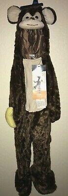 girls boys NEW NWT BROWN MONKEY HALLOWEEN PLUSH COSTUME size 18/24 months banana (Monkey Costumes For Girls)