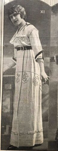 MODE PRATIQUE July 6,1912 + sewing pattern - RARE DRESS BY DRECOLL