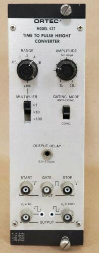 Ortec Time To Pulse Height Converter Nim Bin Module Model 437