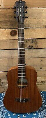 Caraya safair 34-EQ All-Mahogany Parlor Acoustic Guitar w/EQ + Gig Bag + Strings
