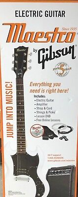 Maestro by Gibson - MESGWHCH - Double Cutaway Electric Guitar Kit - White