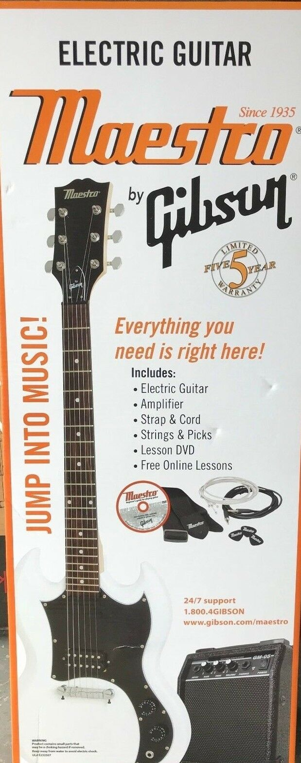mesgwhch double cutaway electric guitar kit white