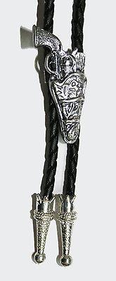 Gun & Holster Western Bolo Tie Cowboy Bootlace - Fancy Dress Gun Holster