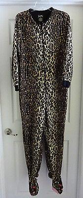 Footed Sleeper Pajamas Pj S (Nick & Nora M Medium Cheetah Cat Leopard Sleeper One Piece Pajamas PJ's Footed)