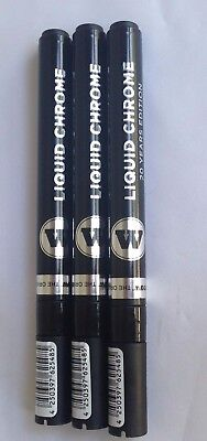Molotow Liquid Chrome Marker 1mm, 2mm and 4mm Value Bundle Pack Free Shipping