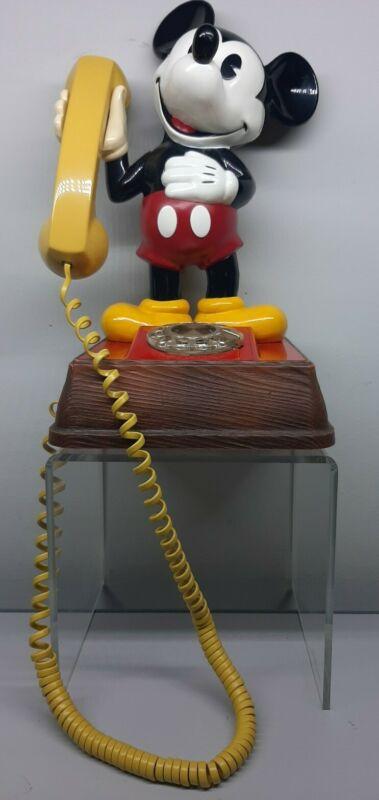 Vintage 1970's The Mickey Mouse Phone Landline Rotary Dial Telephone Walt Disney