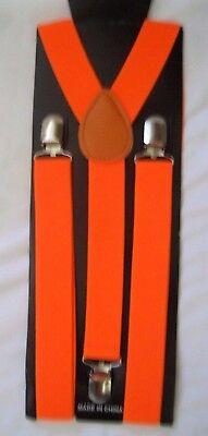 Neon Orange Suspenders (Bright Orange Neon Orange 1