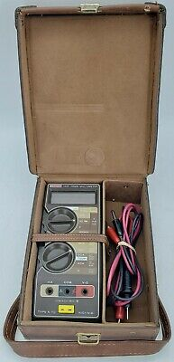 Keithley 132f True Rms Multimeter With Leather Case And Leads Ex Condition Ap