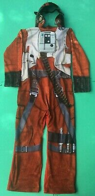 KIDS STAR WARS COSTUME WITH HELMET - X WING FIGHTER - AGE 5-6