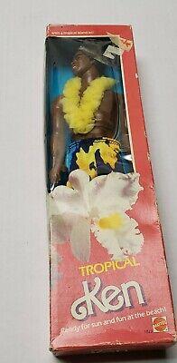 Vintage 1985 Mattel Tropical Ken Barbie Doll #1023 New rare African American cut