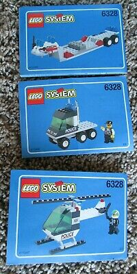 Lego Set 6328 Helicopter Transport VINTAGE 1998 CITY Manuals Only