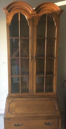 Davis Cabinet Company Antique Walnut Secretary Desk (422) and Bookcase
