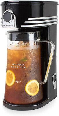 Automatic Ice Tea Coffee Maker Iced Drinks Machine Brewing System 3 Quart Black