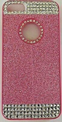 iPhone 7 Hard Plastic Pink Glitter Rhinestone Cell Phone Cover Case ()