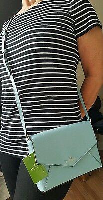Authentic NWT Kate Spade Leather Kalman White Point Garden Celestblu xbody