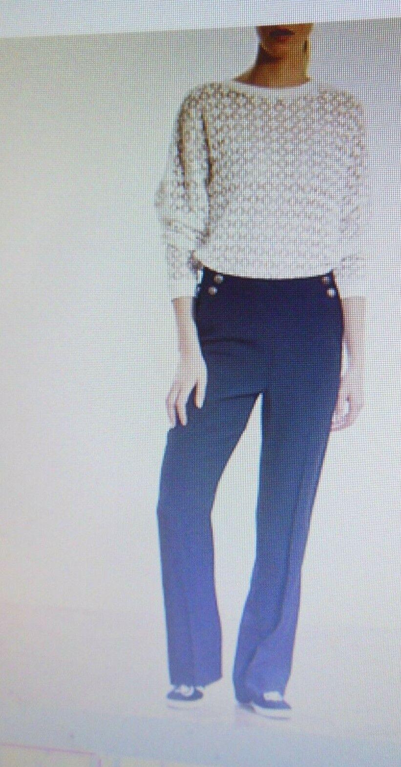 Pantalon fluide a pont ikks taille 38 bleu neuf