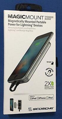 New SCOSCHE MagicMount 4000mAh Spellbinding Power Bank for iPhone X 8 7 6s 6 8+ 7+