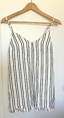 Frill Hem Rompa Short Dress Size 8 Small Jumpsuit Women Girl Teen...