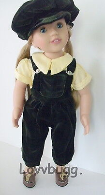 "Lovvbugg Velvet Newsboy w HAT for 18"" American Girl or Australian Girl Doll Clothes"